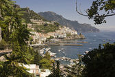 Overview of the Amalfi Coast, South of Italy — Stock Photo
