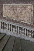 The honour Grand Staircase of Caserta Royal Palace — Stock Photo