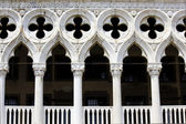 Doge's Palace architectural detail, Venice — Stock Photo