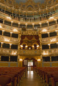 Interior of La Fenice Theatre, Interior of La Fenice Theatre, Venice — Stock Photo