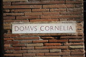 Detail of a script to give street indication in the ancient city of Pompei — Stock fotografie