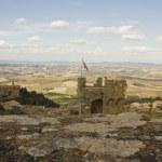 View of Montalcino city and amazing Tuscany countryside — Stock Photo #60400759