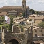 View of Montalcino city and amazing Tuscany countryside — Stock Photo #60400781