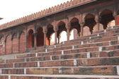 Jama Masjid of Delhi entrance staircas — Stock Photo