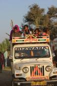 Indian People on a truck — Stock Photo
