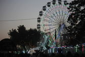 Pushkar fair at sunset — Stock Photo