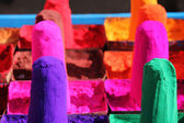 Colored sand (Gulal) sold in the street, — Stock Photo