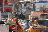Daily street market in Jaipur — Stock Photo