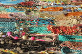 Display of Indian colorful  handcrafts necklage — Stock Photo