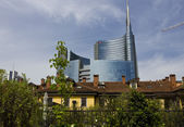 Milan between history and Modernity — Stock Photo