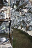 Design installation Windowscape by architect Yoshiharu Tsukamoto during the Salone del Mobile 2014 — Stock Photo