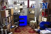 Vintage shop in exhibition — Stock Photo