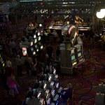 Slot Machines inside Paris Casino in Las Vegas — Stock Photo #64792873