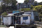 Sausalito houseboats, in the San Francisco Bay Area — Stock Photo