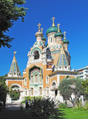 The Russian Orthodox Cathedral of Saint-Nicolas in Nice. — Stockfoto