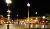 NICE, FRANCE, AUGUST 19: Massena Place Square on August 19, 2 — Stock Photo