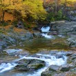 Picturesque autumn landscape of waterfalls on the River (relaxat — Stock Photo #57593029