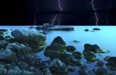 Thunderstorm at the seaside — Stock Photo