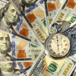 Stopwatch and dollars (time is money, capital, savings, profit - — Stock Photo #60535709
