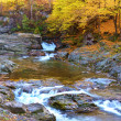 Picturesque autumn landscape of waterfalls on the River (relaxat — Stock Photo #61711053