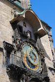 Astronomical Clock in Prague's central square — Stock Photo