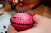 Painted Easter eggs close-up (handmade) — Foto de Stock
