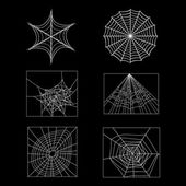 Set of spider web — Stock Vector