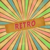 Retro tecken på färgglada vintage bakgrund — Stockfoto