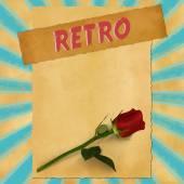 Retro sign on blue vintage background — Stok fotoğraf