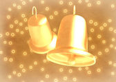 Romantic wedding bells on abstract background — Stock Photo