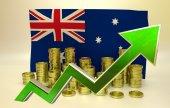 Currency appreciation - Australian dollar — Stock Photo