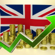 Currency appreciation - UK pound — Stock Photo #58237571