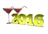 Concept ofNew Years toast 2016 — Stockfoto