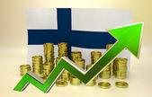 Currency appreciation - Finland — Stock Photo