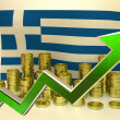Currency appreciation - Greek euro — Stock Photo #58931791
