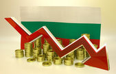 Currency collapse - Bulgarian lev — Stock Photo