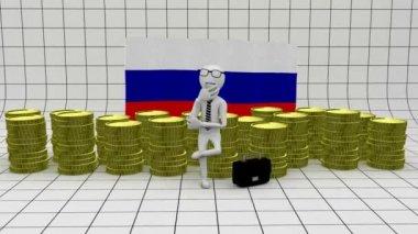 Economy in Russia - finance concept — Stock Video