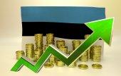 Currency appreciation - Estonian economy — Stock Photo