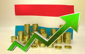 Currency appreciation - Luxembourg economy — Stock Photo