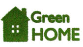 Green home icon - ecology house concept — Stockfoto