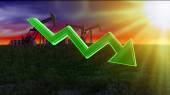 The price of fuel decreases — Stock Photo