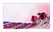 Conceito de aniversário com rosas e faíscas — Fotografia Stock