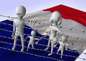 Migration to europe concept - crisis in France — Stock Photo