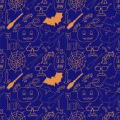 Dark halloween seamless pattern — Stock Vector