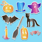 Helloween colored stickers — Stock Vector