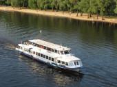 Tourist pleasure boat — Stock Photo