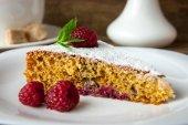 チョコレートラズベリー ケーキ — ストック写真