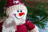 Toy snowman — Stock Photo