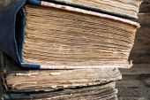 A Stack of old books — Stock Photo