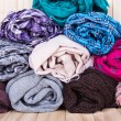 Accessory - Scarfs - Different Textures And Colors — Stock Photo #71922417